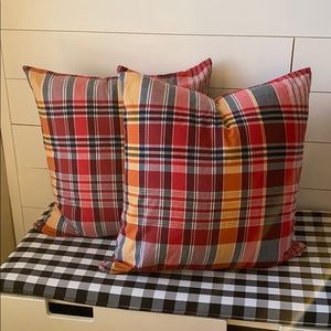 """Set of 2 Pottery Barn 24""""x24"""" throw pillow covers"""